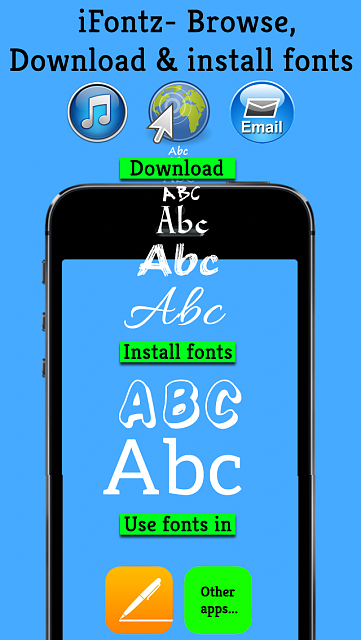 iFontz - Download and Install Custom Fonts for Use in a Variety of Apps-1.png