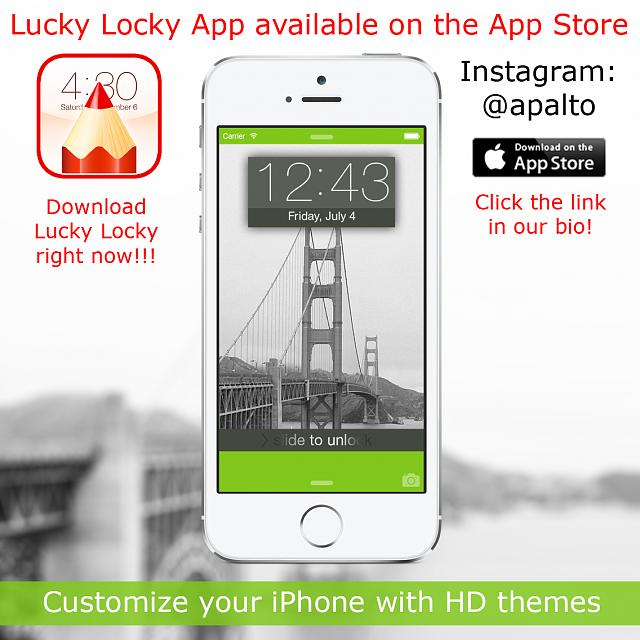 Lucky Locky: Awesome Lock Screen And Home Screen Design
