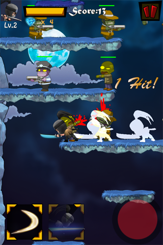 Last Ninja Pro - a non auto jump endless ninja vs zombies action game-i3-2.png