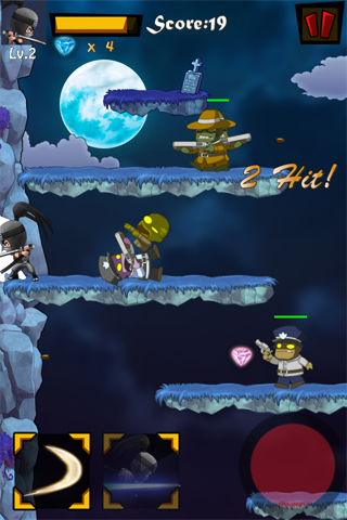 Last Ninja Pro - a non auto jump endless ninja vs zombies action game-i3-3.png