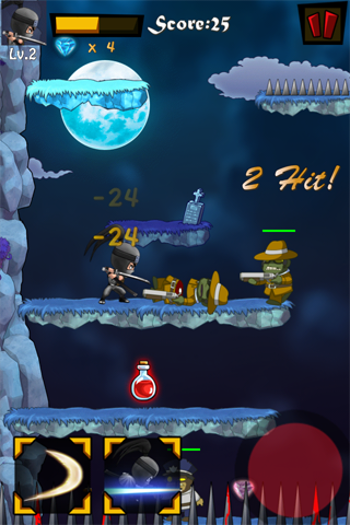 Last Ninja Pro - a non auto jump endless ninja vs zombies action game-i3-4.png