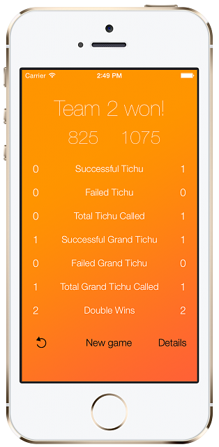 iTichu. A Tichu Counter for your iPhone and your iPad! (Free)-statisticsenglish.png