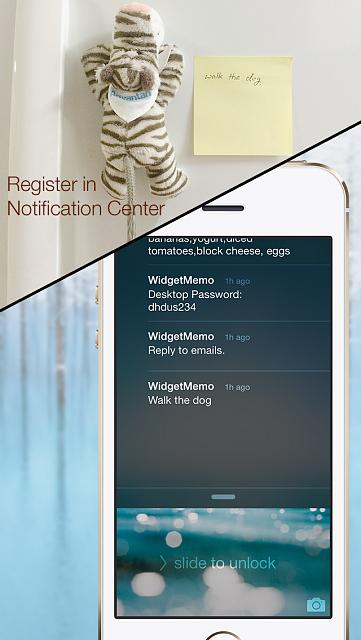 WidgetMemo - Makes notes and checks right in the iOS Notification Center-3.jpg