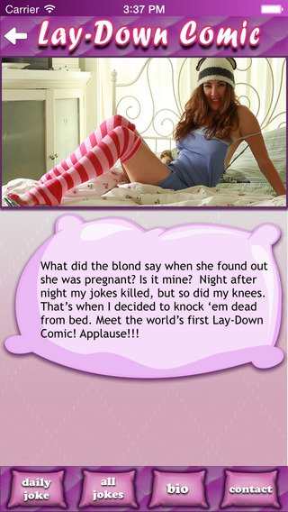 Lay-Down Comedian Funny Jokes(Free: iOS app)-screen568x568-3-.jpeg