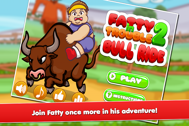 Fatty In Trouble 2 : Bull ride GAME RELEASED-fatty2_cs_960x640_1.png