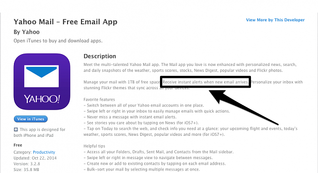 Does anyone know if the new Yahoo Mail app is fetch or push