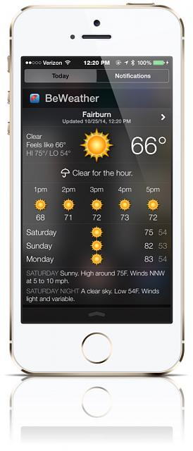 BeWeather for iPhone - Free Weather App by Bellshare-imageuploadedbytapatalk1414254093.020493.jpg