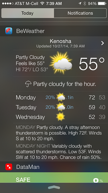 BeWeather for iPhone - Free Weather App by Bellshare-img_0455.png