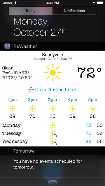 BeWeather for iPhone - Free Weather App by Bellshare-beweather2_screenshot_widgettheme.jpg