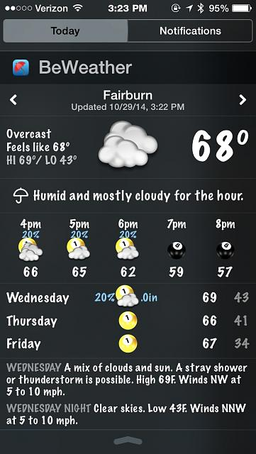 BeWeather for iPhone - Free Weather App by Bellshare-imageuploadedbytapatalk1414610667.471212.jpg