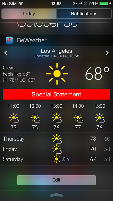 BeWeather for iPhone - Free Weather App by Bellshare-img_0761.png