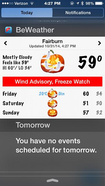 BeWeather for iPhone - Free Weather App by Bellshare-imageuploadedbyimore-forums1414787332.669394.jpg
