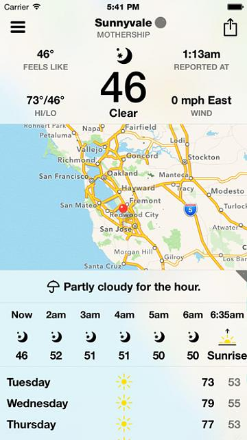 BeWeather for iPhone - Free Weather App by Bellshare-beweather2_screenshot_boldfont.jpg