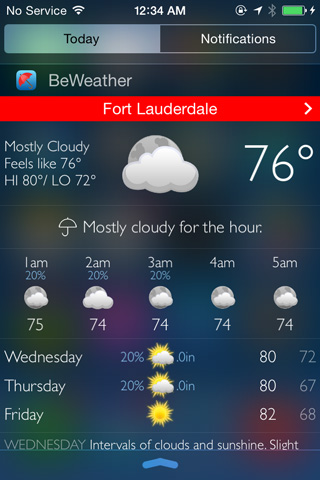 BeWeather for iPhone - Free Weather App by Bellshare-beweather2_screenshot_widget_iphone4s.jpg
