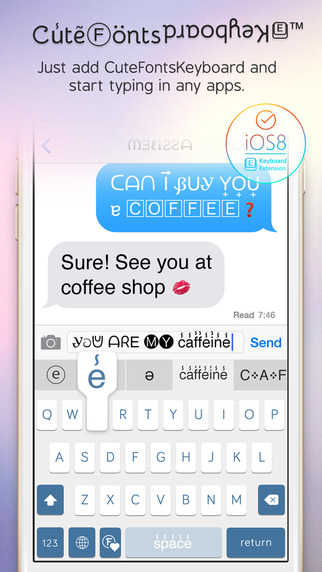 Cute Fonts Keyboard Extension - Type with Cutie Fonts-screen322x572.jpeg