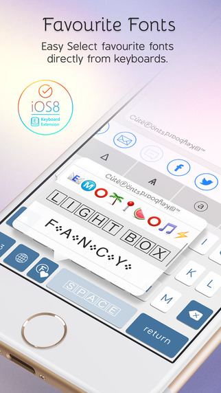 Cute Fonts Keyboard Extension - Type with Cutie Fonts-screen322x572-2.jpeg