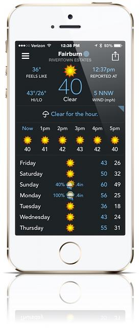 BeWeather for iPhone - Free Weather App by Bellshare-imageuploadedbytapatalk1415986768.786259.jpg