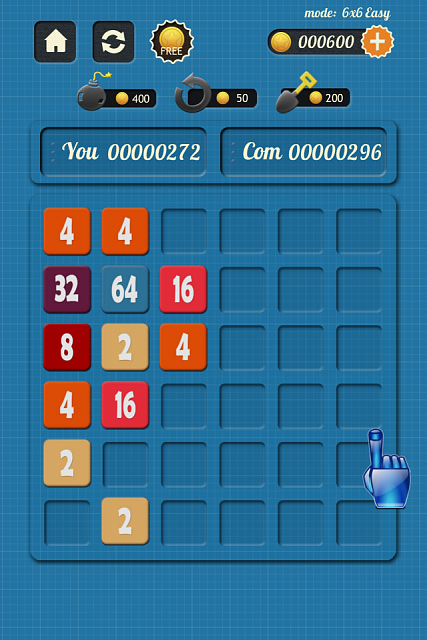 2048 Vs Com - An UNIQUE 2048 game-iphone4ss_100_05.png
