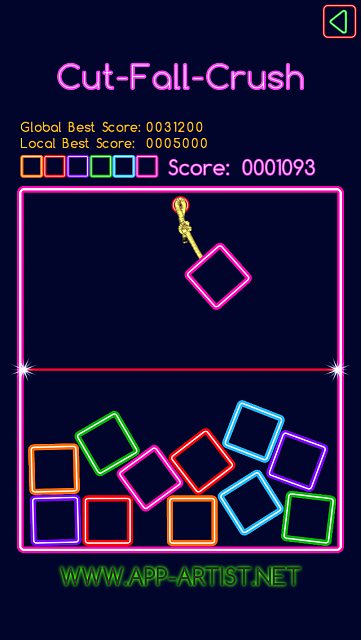 Cut-Fall-Crush - New challenging casual game [FREE]-1418050719_scene1_1136x640.png