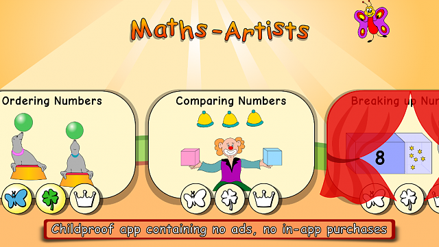 Maths Artists: New amazing maths exercises and games for preschool and first ...-menu.png