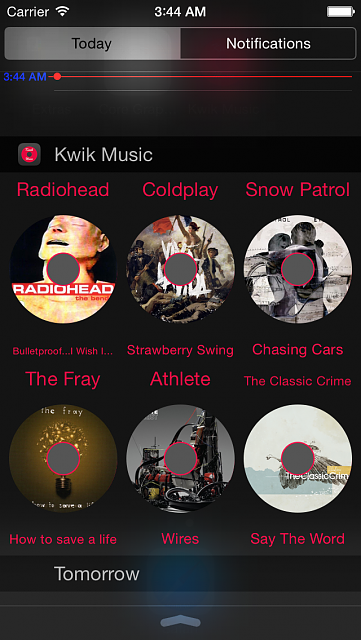Kwik Music - Music Widget for iOS8-iphone5_02.png