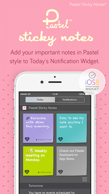 Pastel Sticky Notes - Cute Memos Widget and Support for Apple Watch-pastelstickynotes_ads1.png