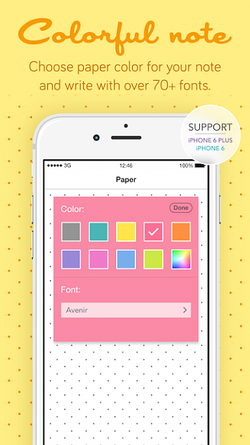 Pastel Sticky Notes - Cute Memos Widget and Support for Apple Watch-pastelstickynotes_ads3.png