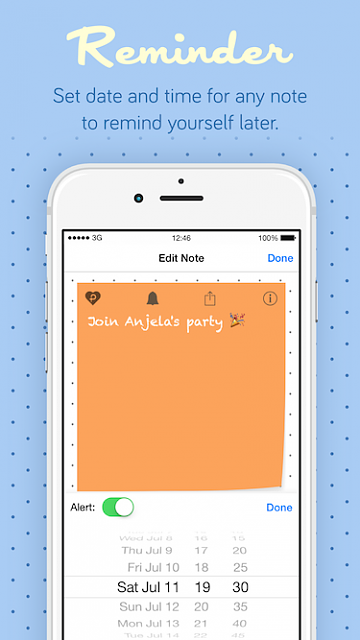 Pastel Sticky Notes - Cute Memos Widget and Support for Apple Watch-pastelstickynotes_ads4.png