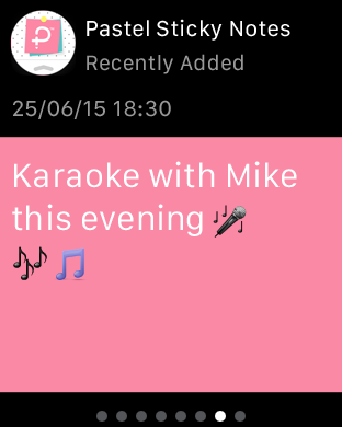 Pastel Sticky Notes - Cute Memos Widget and Support for Apple Watch-pastelstickynotes_applewatchads_1.png