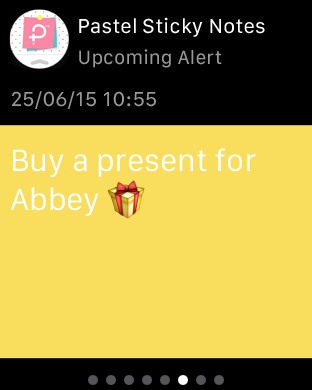 Pastel Sticky Notes - Cute Memos Widget and Support for Apple Watch-pastelstickynotes_applewatchads_2.png