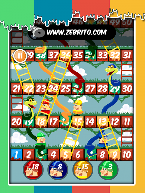 Snakes and Ladders - Paint [FREE GAME] - one game draw, animate and code by me-img_02.png