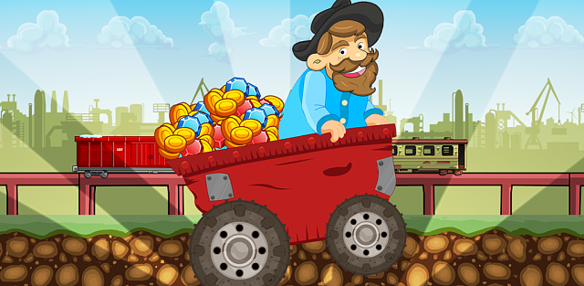 Speedy Gold Miner : Rail Rush-feature.png