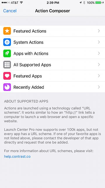 App Review:  Launch Center Pro for the iPhone (.99) by Contrast-photo-sep-18-2-39-04-pm.jpg