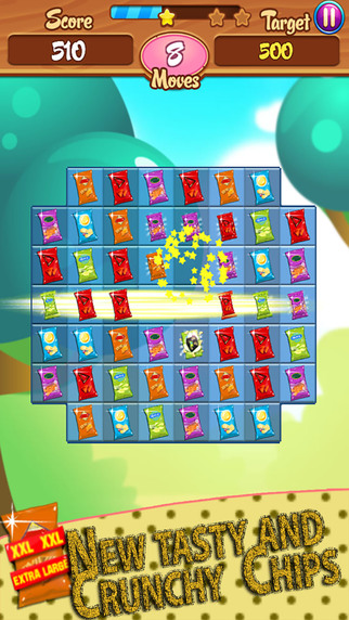Chips Factory - Crunchy Crush Saga Challenge: Free match-3 game mania play with friends amazi-screen322x572.jpeg
