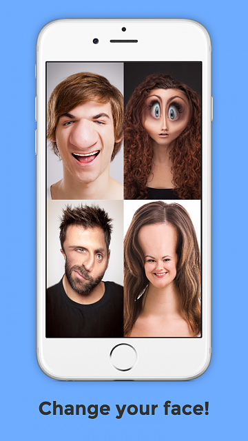 BendyBooth - Bend your face+voice to make hilarious videos-4.7-inch-iphone-6-screenshot-1.png