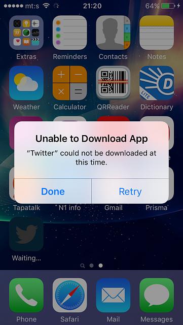 Can't update/install Twitter app on iPhone SE!-0z7grai.png