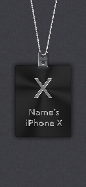 Attached Thumbnails IPhone X Apple Nametag Wallpaper 1 ...