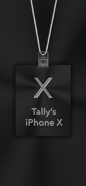 iPhone X Apple Nametag Wallpaper-4.png