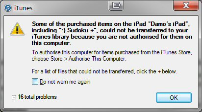 Problems transferring purchases from iPad 2 to iTunes-error1.jpg