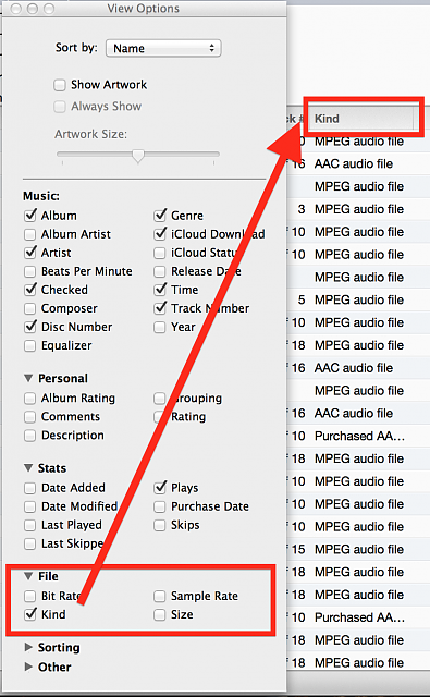 Select all .M4a (aac) files and change to .mp3-screen-shot-2013-06-30-12.24.55-pm.png