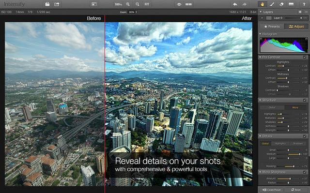 Intensify Image Editor For Mac Best Editor For Light