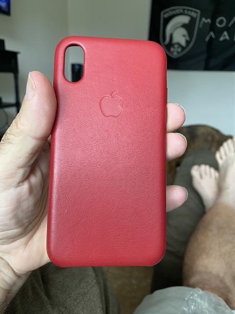 WTS iPhone X Red Leather Case-img_1400.jpg
