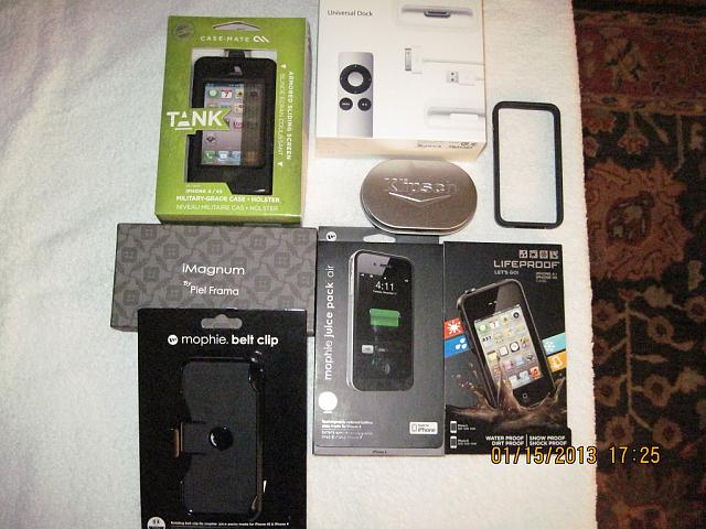 AT&T iPhone 4 32GB Black MINT & LOTS of Accessories-iphone-accessories.jpg