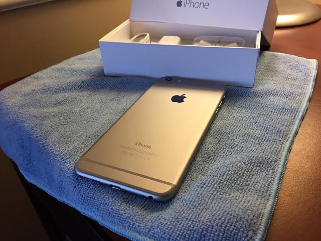 wts space grey iphone 6 plus 128 gb with apple care. Black Bedroom Furniture Sets. Home Design Ideas