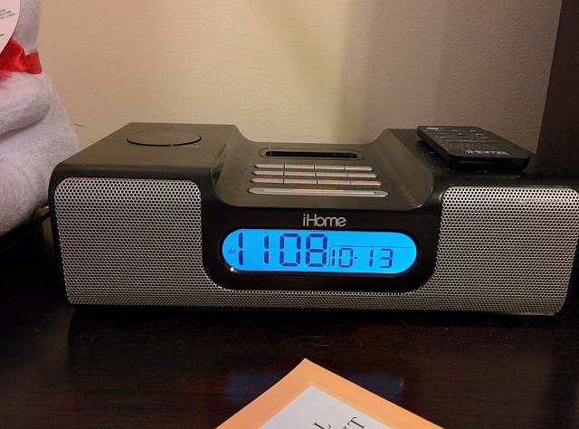 wts ihome alarm clock radio docking station iphone ipad ipod forums at. Black Bedroom Furniture Sets. Home Design Ideas