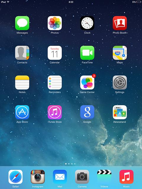 Home screen pictures ipad iphone.