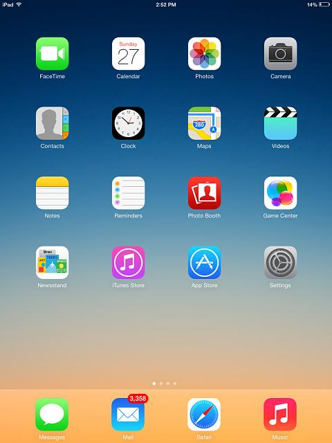 Show us your ipad mini lock and home screen page 8 for Best home screen wallpaper for ipad