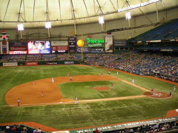 How many ballparks can we post a pic of ?-tropicanafield_3rd_base.jpg