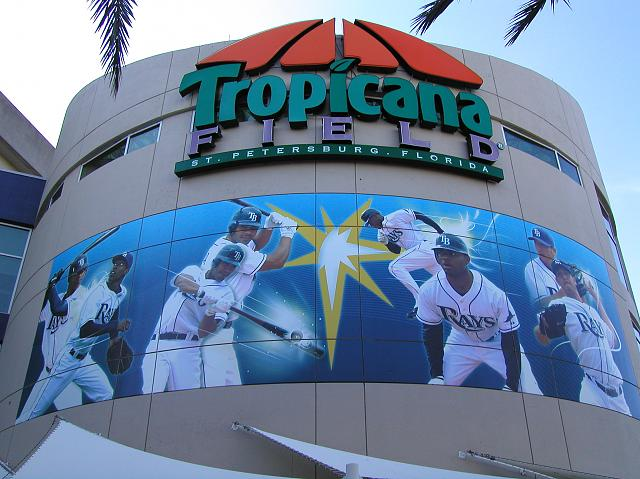 How many ballparks can we post a pic of ?-tropicanafieldentrance.jpg