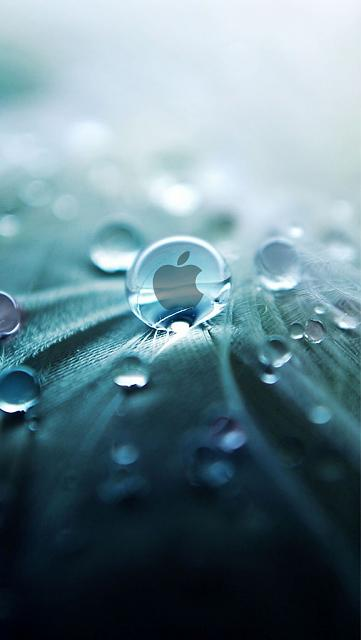 iPhone 5 wallpapers-apple-droplet.jpg